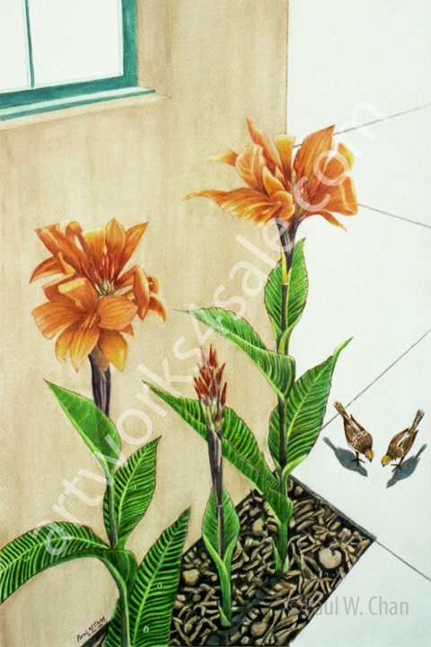 Cannas-On-Georgia-Street-Giclee-Art-Prints