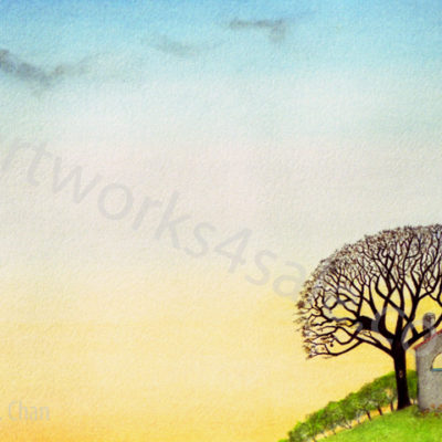 Jacaranda-Sunset-Giclee-Art-Prints