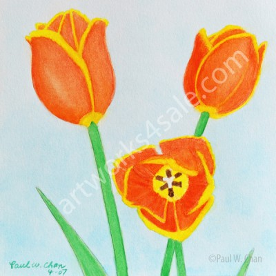 Orange-Tulips-Giclee-Art-Prints